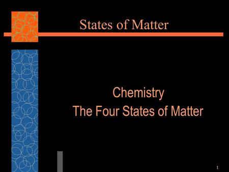 1 States of Matter Chemistry The Four States of Matter.