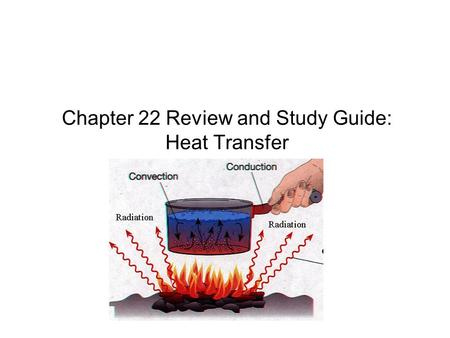 Chapter 22 Review and Study Guide: Heat Transfer.