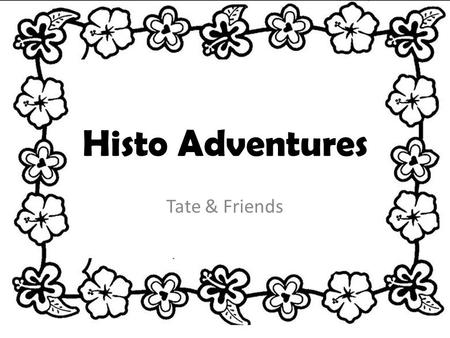 Histo Adventures Tate & Friends. Our Game Our game is a scavenger hunt about history. We have 10 levels. Some levels are about inventors or creators and.