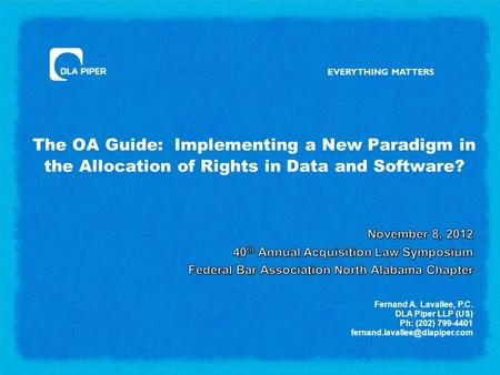 The OA Guide: Implementing a New Paradigm in the Allocation of Rights in Data and Software?