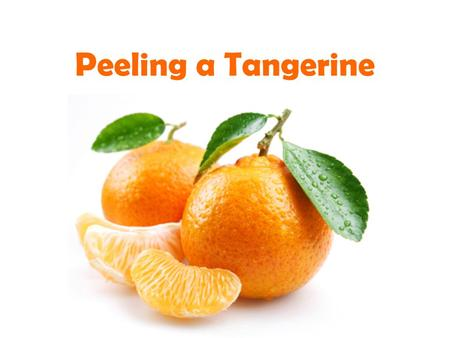 Peeling a Tangerine. A Quick Review… What are the similarities between a simile and a metaphor? What are the differences?