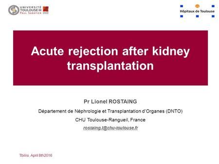 Acute rejection after kidney transplantation