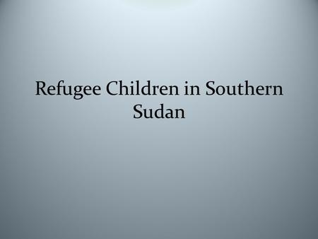 Refugee Children in Southern Sudan. Second Sudanese Civil War.
