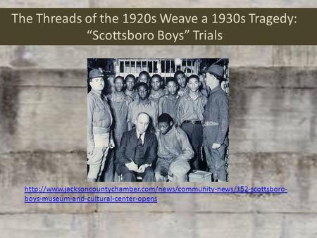 The Threads of the 1920s Weave a 1930s Tragedy: