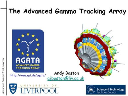 Advanced Gamma Tracking Array Andy Boston The Advanced Gamma Tracking Array