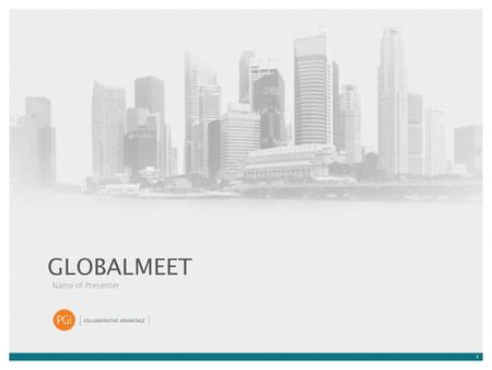 1 GLOBALMEET Name of Presenter. 2 HOW EFFECTIVE IS YOUR WEB CONFERENCING SOLUTION? Frustrated by the complexity of performing basic tasks? Do you demand.