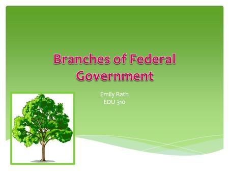 Emily Rath EDU 310. Our Government ExecutiveLegislativeJudicial.