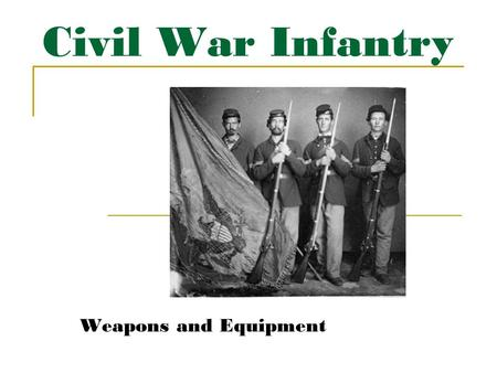 "Civil War Infantry Weapons and Equipment. Infantryman Overview Bedroll Haversack Bayonet Canteen Musket Cartridge Pouch Cap Pouch Cap/ ""Kepi"" Wool ""Sack"""