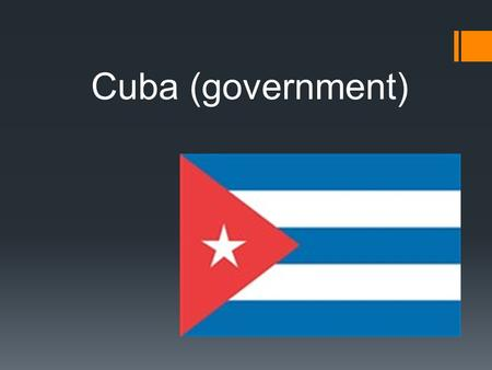 Cuba (government). I want to talk about Cuba  The Republic Of Cuba  Capital: Havana  Official language: Spanish  Area: 110 860 km2  Population: 11.