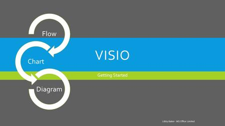 VISIO Getting Started Libby Baker - MS Office Limited Flow Chart Diagram.