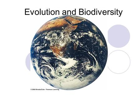 Evolution and Biodiversity. Summary of Evolution of Life CHARLES DARWIN TOOK HIS TRIP TO THE GALAPAGOS ISLANDS.