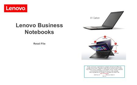 Lenovo Business Notebooks