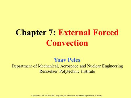 Chapter 7: External Forced Convection