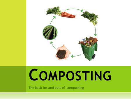 The basic ins and outs of composting C OMPOSTING.