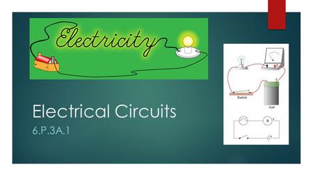 Electrical Circuits 6.P.3A.1. Electrical Energy  Electrical energy is energy that is caused by moving electric charges. Since the electric charges are.