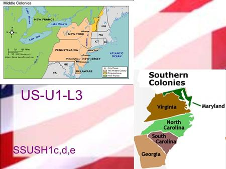 US-U1-L3 SSUSH1c,d,e. c. Explain the development of the mid-Atlantic colonies; include the Dutch settlement of New Amsterdam and subsequent English takeover,
