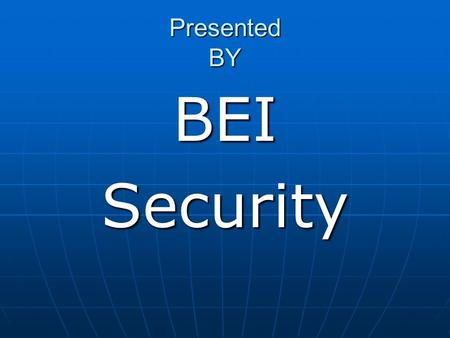 Presented BY BEISecurity. Fiber-Optic Perimeter Intrusion Detection System.