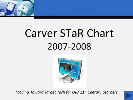 Carver STaR Chart 2007-2008 Moving Toward Target Tech for Our 21 st Century Learners.