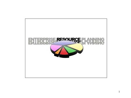 1. Enterprise Resource Planning Enterprise Resource Planning Systems is a computer system that integrates application programs in accounting, sales, manufacturing,