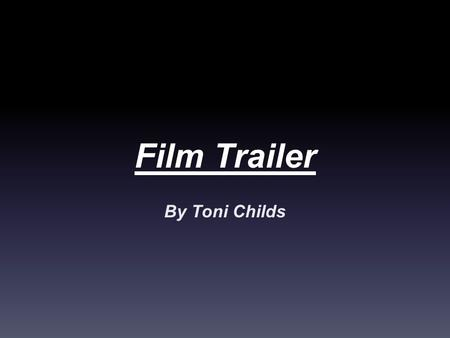 Film Trailer By Toni Childs. is it a Nightmare? The film 'is it a Nightmare?' Is about a group of friends who go into they are all in a haunted house.