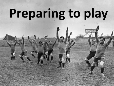 Preparing to play. Warm Up Warming up prepares the body for physical education by - improving blood flow to the heart - Increasing muscle temperature.