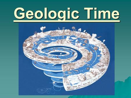 Geologic Time. The Geologic Time Scale  A summary of major events in Earth's past that are preserved in the rock record  Divisions of Geologic Time.