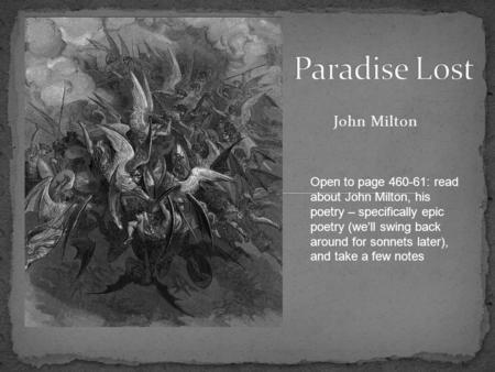 analysis of eve in paradise lost an epic poem by john milton Paradise lost by john milton: summary and critical analysis the fable or story of the epic is taken from the bible it is the simple and common story of the fall of adam and eve from the grace of god due to their disobedience of him.
