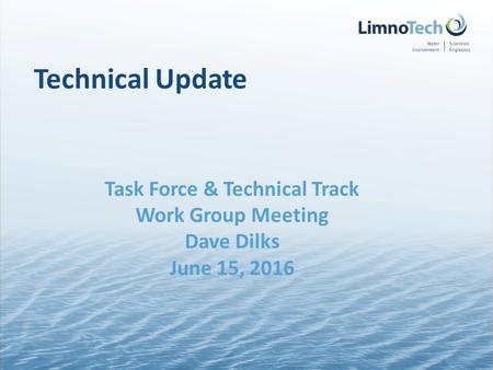 Technical Update Task Force & Technical Track Work Group Meeting Dave Dilks June 15, 2016.