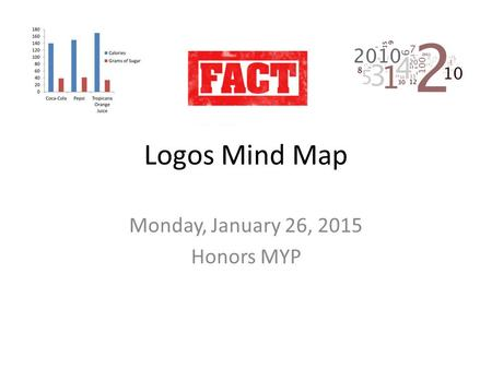 Logos Mind Map Monday, January 26, 2015 Honors MYP.