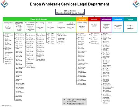 Legal_Org (current).ppt Enron Wholesale Services Legal Department Mark E. Haedicke Managing Director & General Counsel Enron North America West Origination.