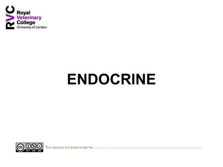 ENDOCRINE This resource is licensed under the Creative Commons Attribution Non-Commercial & No Derivative Works LicenseCreative Commons Attribution Non-Commercial.