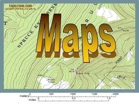 What is a map? A Map is a two or three-dimensional model or representation of the Earth's surface. 2-Dimensional map.