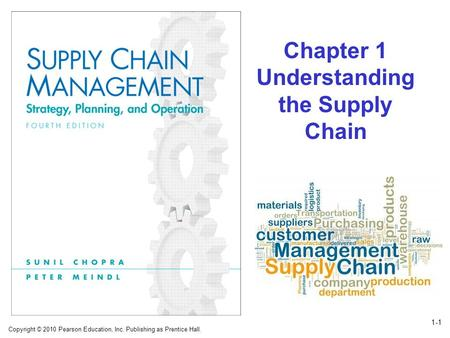 Copyright © 2010 Pearson Education, Inc. Publishing as Prentice Hall. 1-1 Chapter 1 Understanding the Supply Chain.