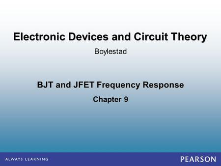 BJT and JFET Frequency Response