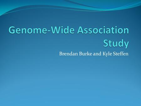 Brendan Burke and Kyle Steffen. Important New Tool in Genomic Medicine GWAS is used to estimate disease risk and test SNPs( the most common type of genetic.