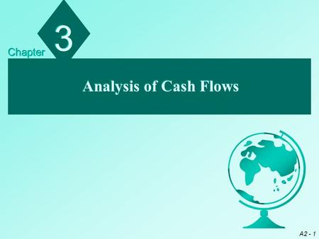 A2 - 1 Analysis of Cash Flows 3 3 Chapter. A2 - 2 Chapter Objectives Describe the three components of a cash flow statement Distinguish between direct.