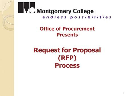 1 Office of Procurement Presents Request for Proposal (RFP) Process.