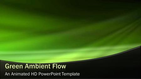An Animated HD PowerPoint Template. This page contains a video element and is optimized to work with PowerPoint 2010 and PowerPoint 2007. Static versions.