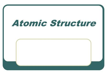 Atomic Structure. Subatomic Particles ParticleSymbolChargeRelative mass location proton.