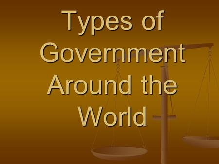 Types of Government Around the World. Direct Democracy.