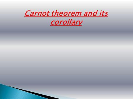 Carnot theorem and its corollary. Most energy extracted from the fuel in power plants is dumped to the environment as waste heat, here using a large cooling.