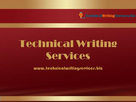 Technical Writing Services www.technicalwritingservices.biz.