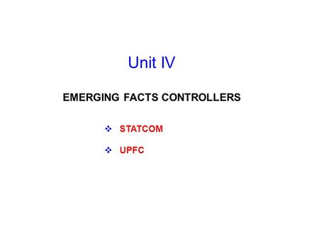 EMERGING FACTS CONTROLLERS