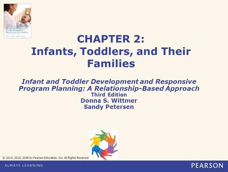 CHAPTER 2: Infants, Toddlers, and Their Families Infant and Toddler Development and Responsive Program Planning: A Relationship-Based Approach Third Edition.