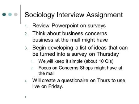 sociology observation assignment