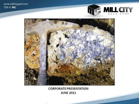 CORPORATE PRESENTATION JUNE 2011. Forward Looking Statements Certain information regarding the Company contained herein may constitute forward-looking.