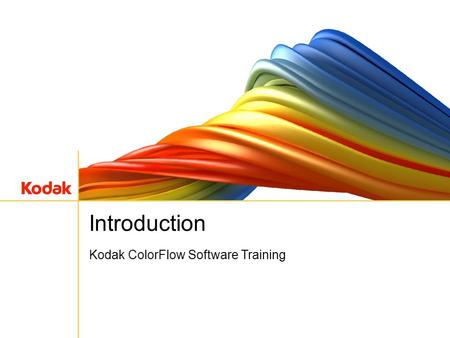 Kodak ColorFlow Software Training