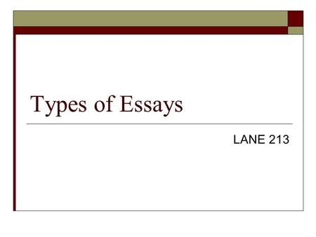 effective types of essays