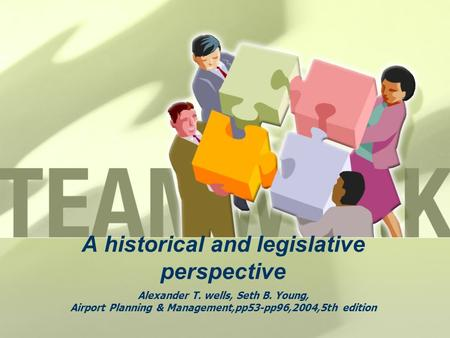 A historical and legislative perspective Alexander T. wells, Seth B. Young, Airport Planning & Management,pp53-pp96,2004,5th edition.
