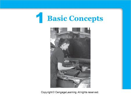 Copyright © Cengage Learning. All rights reserved. Functions 1 Basic Concepts.